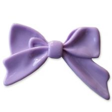 45mm LIGHT PURPLE Bright Bowknot Flatback Bow Cabochon